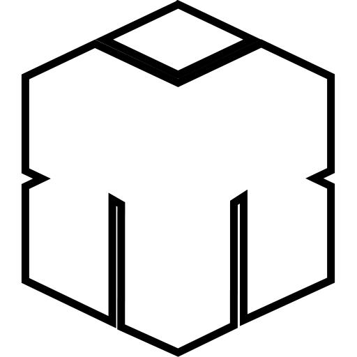 Moeskops icoon wit